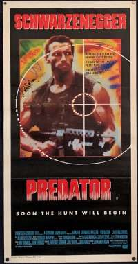 Predator Movie Poster Original Daybill Arnold Schwarzenegger Carl Weathers