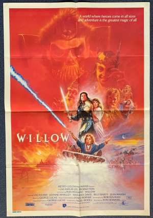 Willow Poster Original One Sheet 1988 Val Kilmer George Lucas