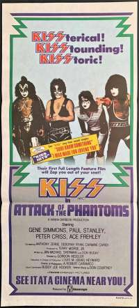 Kiss Attack Of The Phantoms Poster Original Daybill 1978 Unused Condition