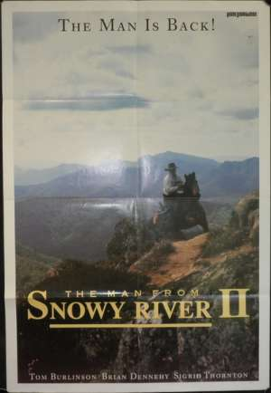Man From Snowy River II 1988 One Sheet Movie Poster Advance artwork Tom Burlinson