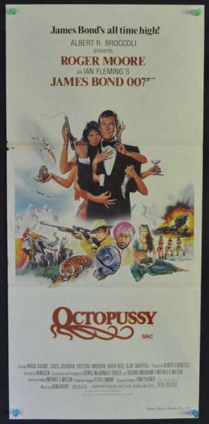 Octopussy Roger Moore Maud Adams Daybill movie poster