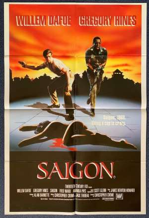 Saigon Poster Original One Sheet 1987 Aka Off Limits Williem Dafoe Gregory Hines