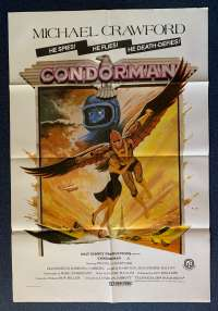 Condorman Movie Poster Original One Sheet 1981 Michael Crawford Oliver Reed