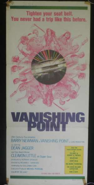 Vanishing Point 1971 Barry Newman Dean Jagger Daybill Poster