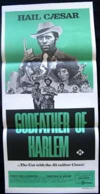 Godfather Of Harlem movie poster Fred Williamson Daybill