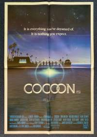 Cocoon Poster Original One Sheet 1985 Steve Guttenburg Don Ameche