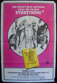 Everything You Always Wanted to Know About Sex 1972 One Sheet movie poster Woody Allen