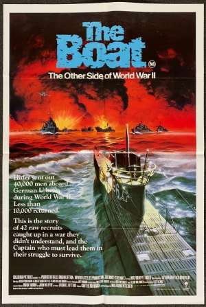 The Boat aka Das Boot movie poster One Sheet Wolfgang Petersen