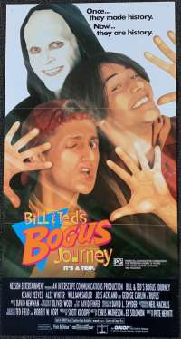 Bill And Teds Bogus Journey Movie Poster Original Daybill 1991 Keanu Reeves