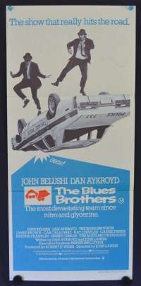 The Blues Brothers 1980 Daybill movie poster John Belushi Dan Aykroyd