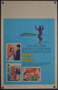 Zorba The Greek Poster Original USA Window Card Rolled 1964 Anthony Quinn