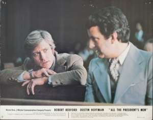 All The President's Men 1976 Robert Redford Dustin Hoffman 11x14 USA Lobby Card No 8