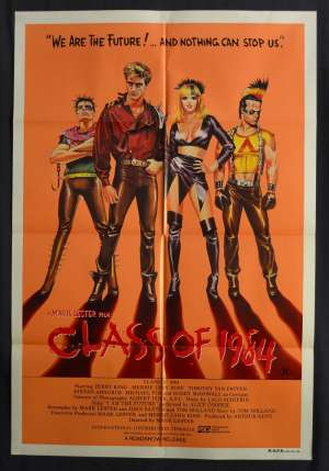 Class of 1984 One Sheet movie poster Rare Perry King Gang Violence