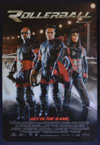 Rollerball Movie Poster Original ROLLED One Sheet 2002 Chris Klein Skating Violence