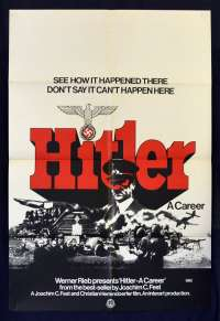 Hitler A Career Poster Original One Sheet 1977 War Documentary Nazis