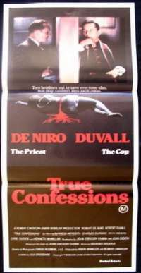 True Confessions - Robert De Niro Daybill Movie poster