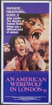 An American Werewolf In London Movie Poster Original Daybill John Landis BEST art!