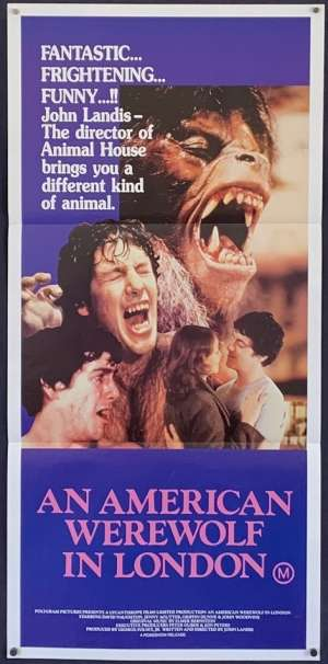 An American Werewolf In London Movie Poster Original Daybill John Landis BEST art