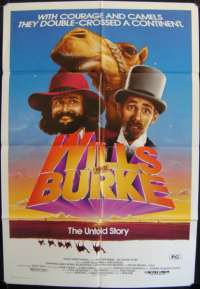 Wills And Burke Poster Original One Sheet 1985 Jack Thompson Chris Haywood