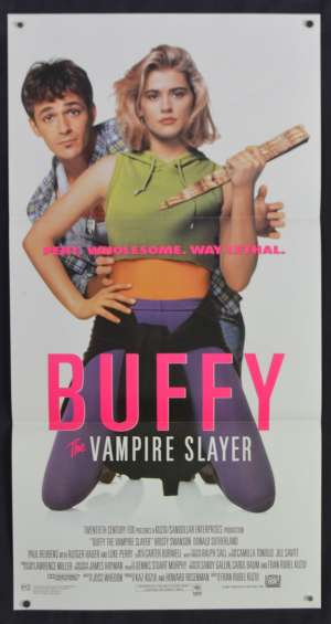 Buffy The Vampire Slayer Movie Poster Original Daybill Kristy Swanson Luke Perry