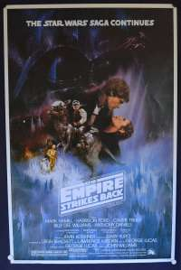 The Empire Strikes Back Poster One Sheet Reprint Harrison Ford Star Wars