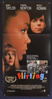 Flirting 1991 movie poster Nicole Kidman Noah Taylor Naomi Watts Daybill