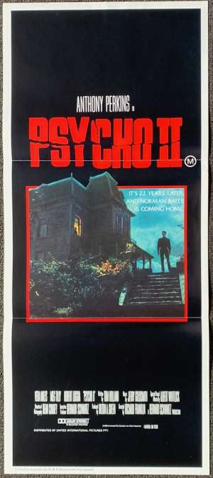 Psycho 2 Poster Original Daybill 1983 Anthony Perkins Norman Bates Horror