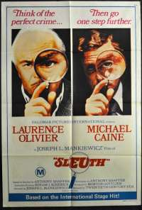 Sleuth 1972 poster One Sheet Michael Caine Laurence Olivier Joseph L. Mankiewicz