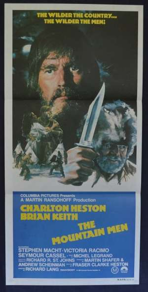 The Mountain Men 1980 Charlton Heston Brian Keith Daybill movie poster