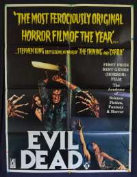 Evil Dead Australian One Sheet Movie Poster