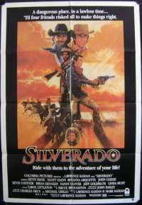Silverado 1985 Kevin Kline Kevin Costner One Sheet movie poster