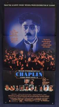 Chaplin 1992 Daybill movie poster Robert Downey Jr. Geraldine Chaplin