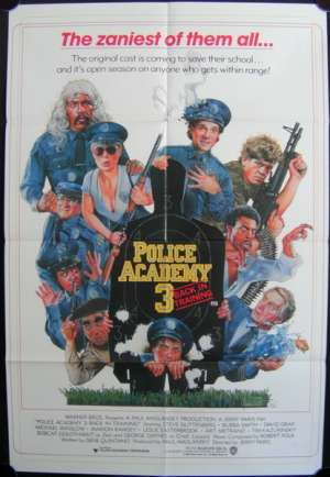 Police Academy 3 1986 One Sheet movie poster Drew Struzan art