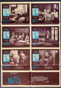 Nuts Barbara Streisand Richard Drefuss Photosheet movie poster