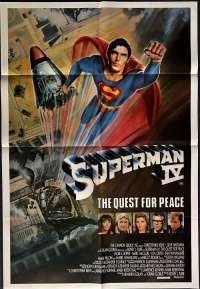 Superman IV: The Quest for Peace 1987 One Sheet movie poster Christopher Reeve Gene Hackman