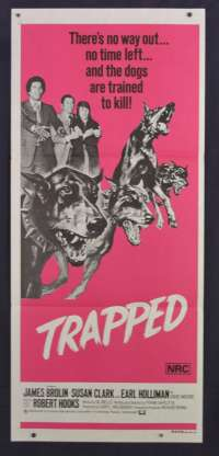 Trapped 1973 aka Doberman Patrol Daybill movie poster