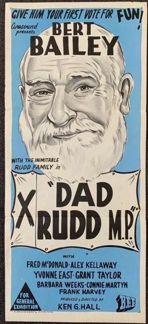 Dad Rudd MP Movie Poster Original Daybill Bert Bailey Fred McDonald