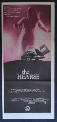 The Hearse Movie Poster Original Daybill Neart MINT Trish Van Devere Joseph Cotten