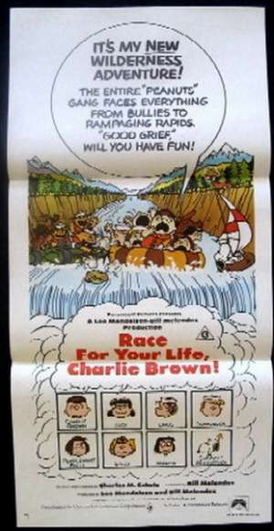 Race For Your Life, Charlie Brown Poster Australian Daybill Movie poster