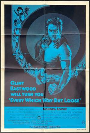 Every Which Way But Loose 1978 One sheet movie poster Clint Eastwood