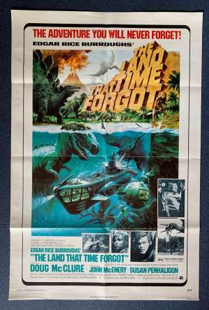 The Land That Time Forgot Poster Original USA One Sheet 1975 Doug McClure