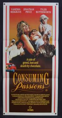 Consuming Passions 1988 Daybill movie poster Vanessa Redgrave Jonathan Pryce