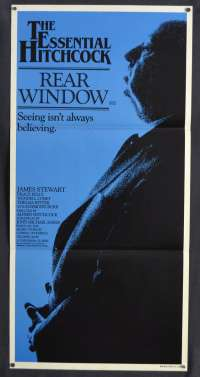 Rear Window Poster Original Daybill 1983 Re-Issue Grace Kelly Alfred Hitchcock