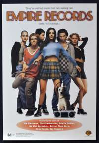 Empire Records 1995 Video movie poster ROLLED Renée Zellweger Liv Tyler Cruel Sea