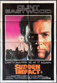 Sudden Impact 1983 Clint Eastwood Dirty Harry One Sheet movie poster