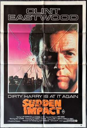 Sudden Impact Poster Original One Sheet 1983 Clint Eastwood Dirty Harry