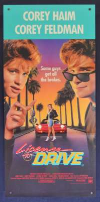 License To Drive Movie Poster Original Daybill 1988 Corey Haim Corey Feldman