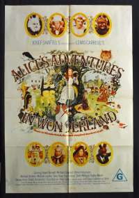 Alice's Adventures In Wonderland 1972 One Sheet Movie poster Fiona Fullerton, Dudley Moore