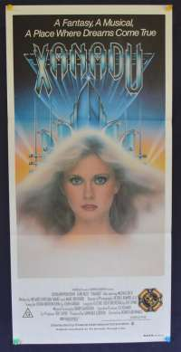 Xanadu 1980 Olivia Newton-John ELO Gene Kelly Daybill movie poster