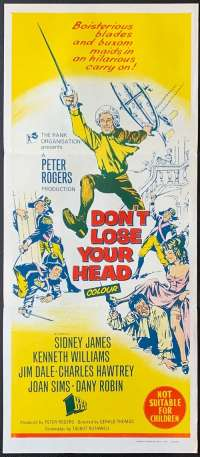 Don't Lose Your Head 1966 Daybill movie poster Rare Sid James Kenneth Williams